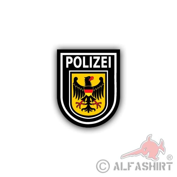 Aufkleber/Sticker Bundespolizei BPOL Bundesrepublik Deutschland 6x7cm A1849