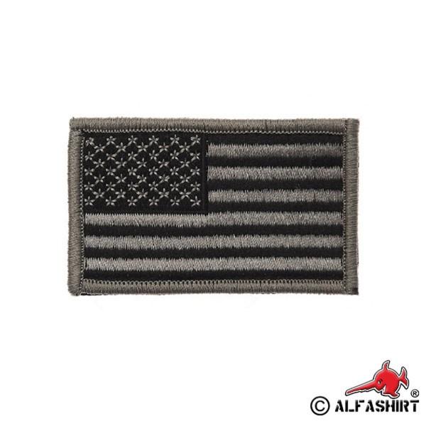 USA black Flag Patch Amerika FLAGGE gestickt Aufnäher Uniform #17403