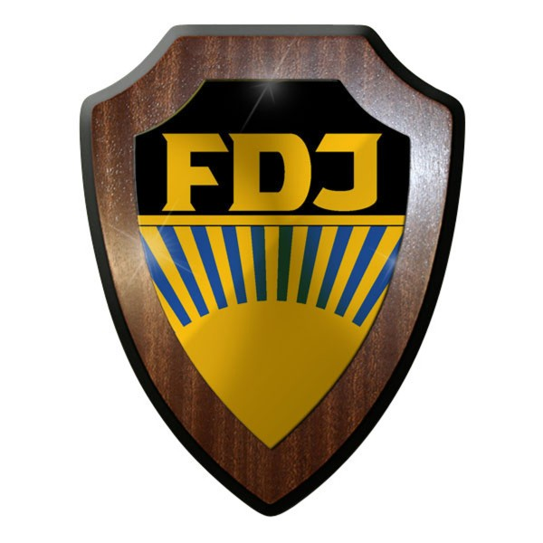 Wappenschild / Wandschild / Wappen - Freie Deutsche Jugend Pioniere Wappen #8927