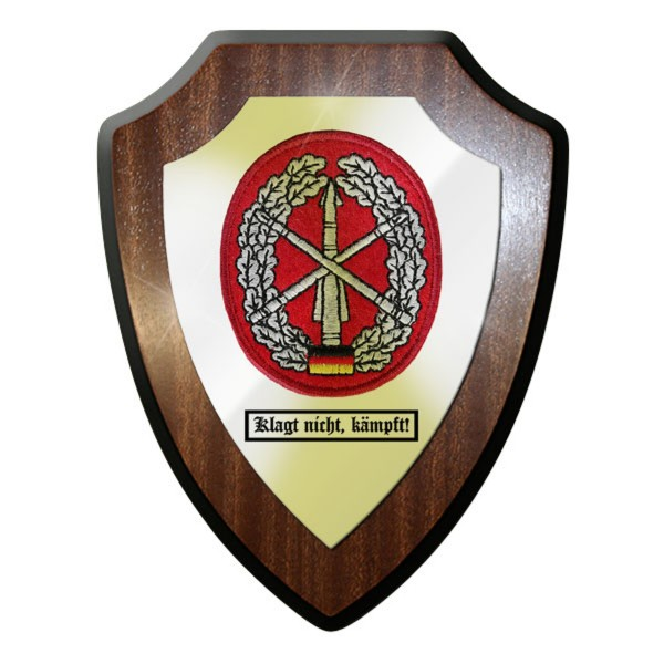 Wappenschild - Barettabzeichen Flugabwehr klagt nicht, kämpft! Bundeswehr #11679