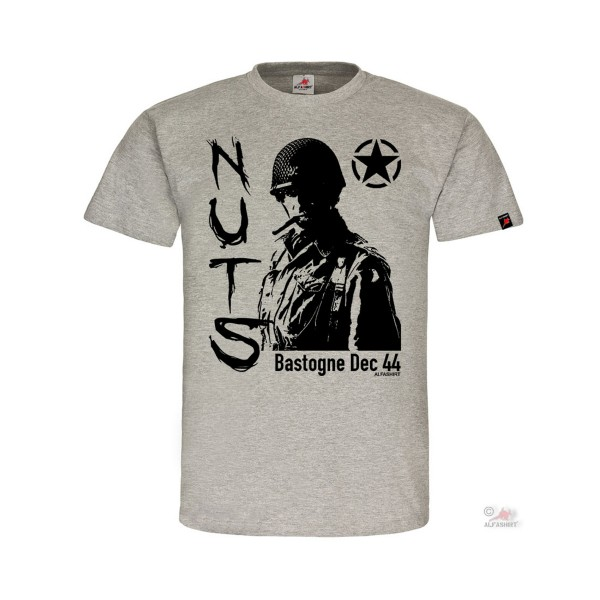 NUTS Bastogne Dec 44 101st Airborne Division Anthony McAuliffe T-Shirt #32257