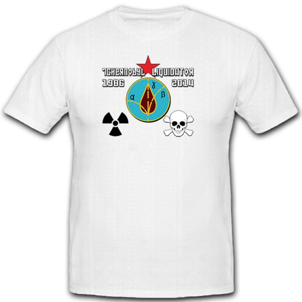 Liquidator Chernobyl - Unwinder Remedies Order Soviet Union Badge - T Shirt # 11529