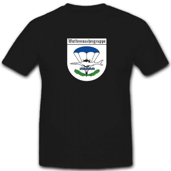Waffentauchergruppe Bundeswehr Kampfschwimmer Wappen Abzeichen - T Shirt #4533