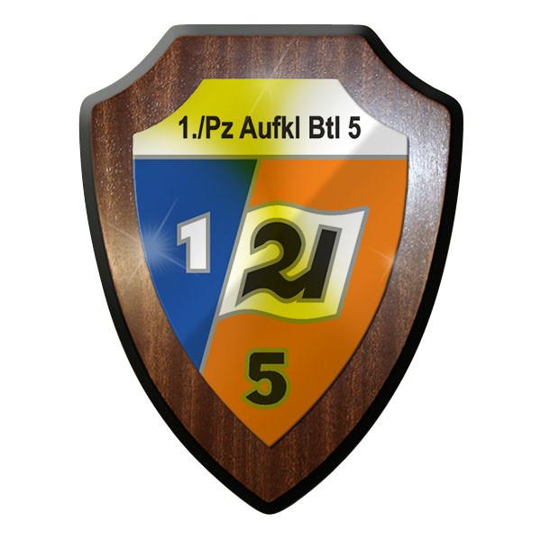 Wappenschild - 1 Kp PzAufklBtl 5-Bundeswehr Kompanie Wappen Abzeichen #8957