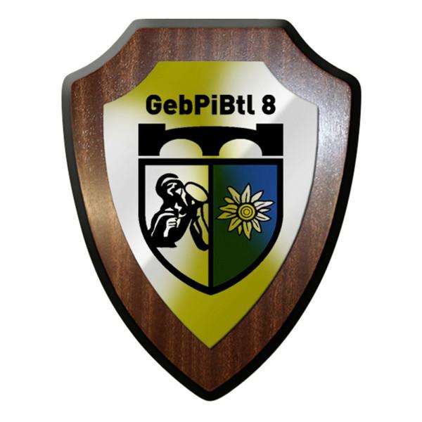 Wappenschild / Wandschild - Gebirgspionierbataillon 8 Bundeswehr #12417