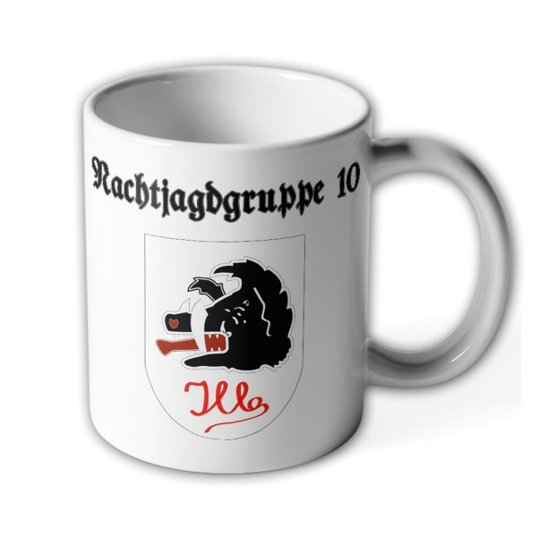 Cup Nachtjagdgruppe 10 German Air Force 1945 NJGr Gruppe ILLE coat of arms # 35896