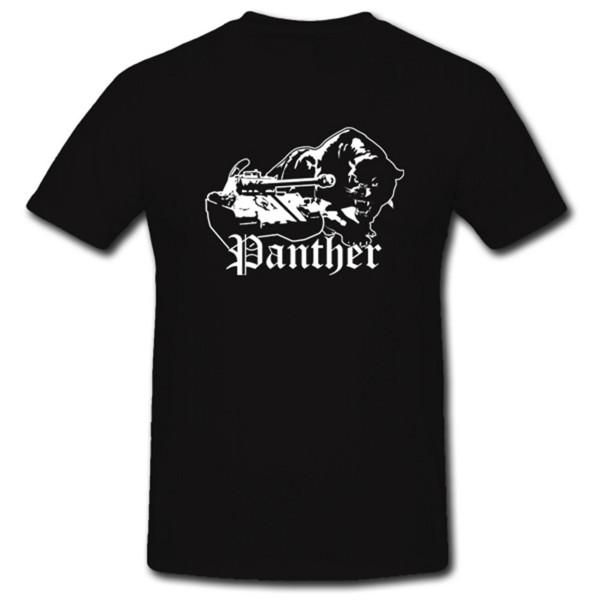 Panther Panzer tank Militär Militärfahrzeug Raubkatze - T Shirt #1003