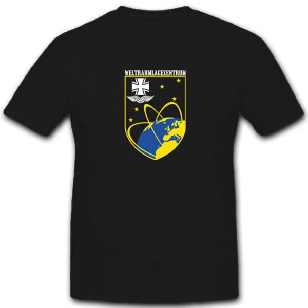 Weltraumlagezentrum Bundeswehr Kalkar Wappen Luftwaffe Abzeichen - T Shirt #4251