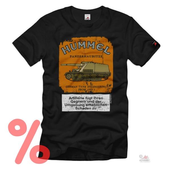 Size M - SALE Shirt Hummel without filter Panzer Howitzer Fun WW2 warning # R649