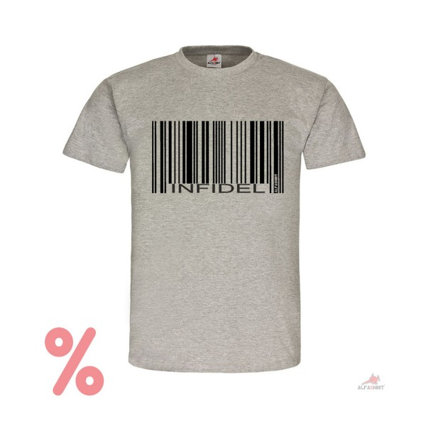 SALE Shirt Barcode Infidel Dash Unbeliever Bundeswehr T-Shirt # R332