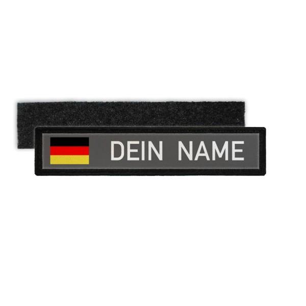 Deutschland Namenschild Patch mit Namen Bundeswehr Polizei Feuerwehr #24346