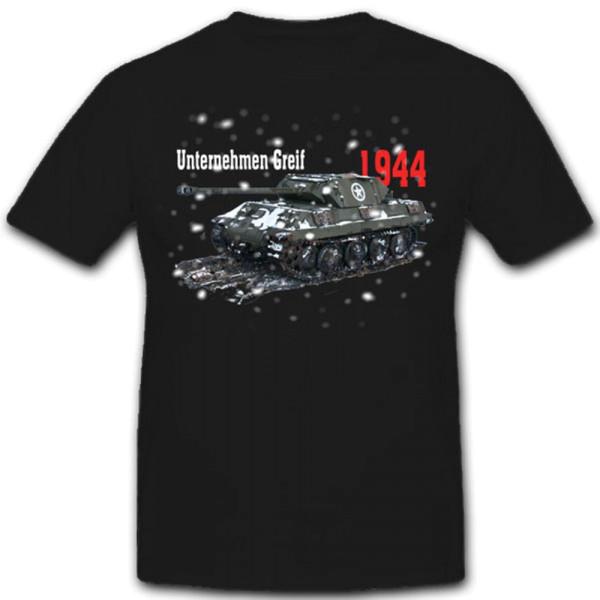Unternehmen Greif Panther Panzer M-36 Ardennen Offensive - T Shirt #8263