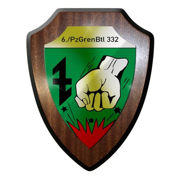 Wappenschild - 6.PzGrenBtl 332 PanzerGrenadierBataillon Bundeswehr #9284