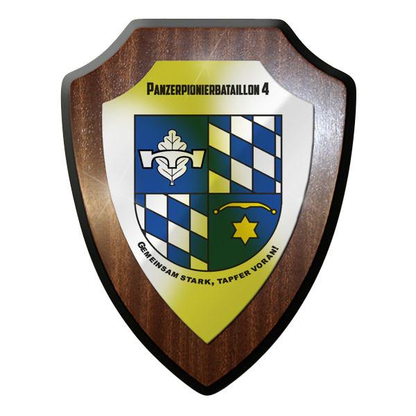 Wappenschild / Wandschild - PzPiBtl 4 Panzerpionierbataillon Pioniere #10020