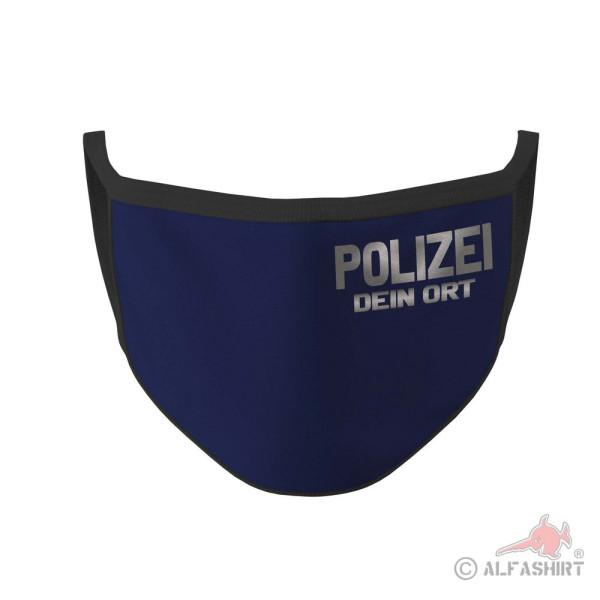 Mundmaske Polizei Ortsname Personalisiert Dein Ort Dienst Dienstkleidung #36122