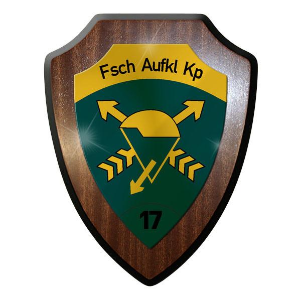 Wappenschild / Wandschild - FschAufklKp 17 Fallschirmaufklärerkompanie 17 #11902