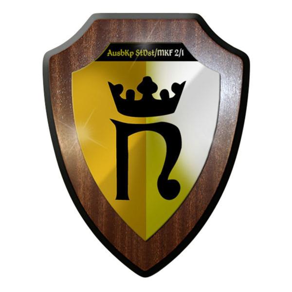 Wappenschild / Wandschild - AusbKp StDst MKF 2 1 Ausbildungskompanie #12644