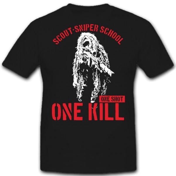 Scout Sniper School Scharfschütze One Shot one kill ghillie suit T Shirt #11301