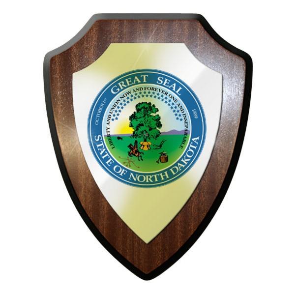 Wappenschild The State of North Dakota Segler Entdecker Flagge Abzeichen #11932