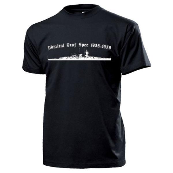 Panzerschiff Admiral Graf Spee Marine Deutschland Wk Río - T Shirt #13412
