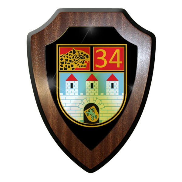Wappenschild / Wandschild - Panzerbataillon 34 PzBtl Panzer Bundeswehr #9033