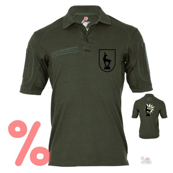 Gr. M - SALE Shirt Tactical Polo Horrido die Gams Gebirgsjäger Steinbock #R502