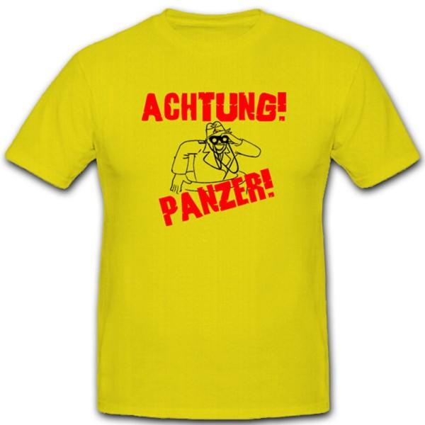 Achtung Panzer Panzertruppe Panzermann Tiger Königstiger Kommandant T Shirt#1854