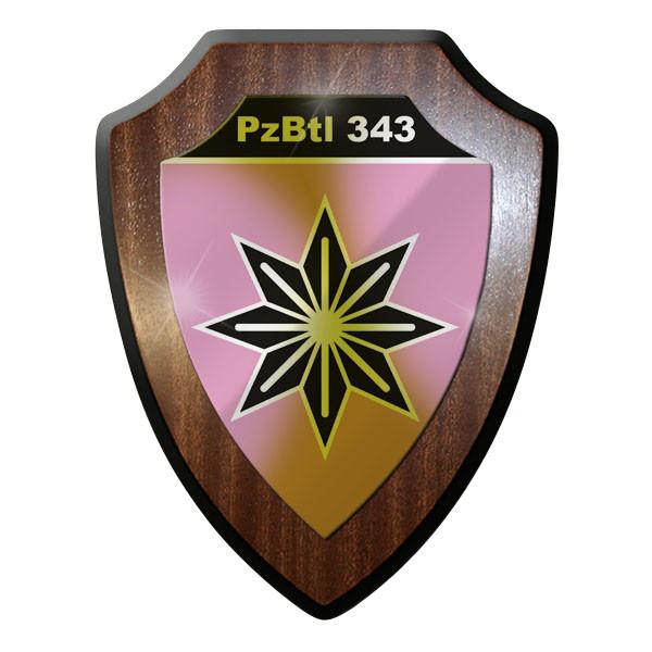 Wappenschild PzBtl 343 Panzerbataillon Panzer Bataillon Hohllandung Heer #9333