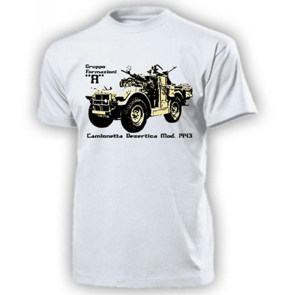 Gruppo Formazioni A camionetta desertica AS43 Italien Armee - T Shirt #14202