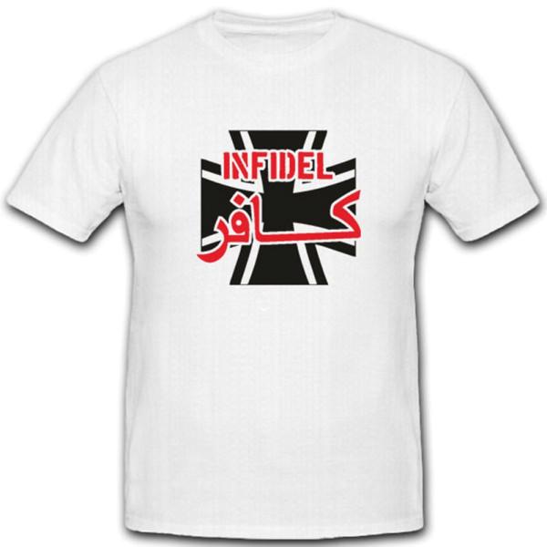 Allied Star Infidel Ungläubig Islam Heiliger Krieg Bw Kreuz - T Shirt #4006