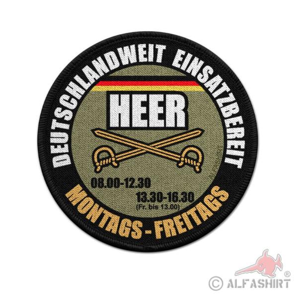 9cm Patch HEER deutschlandweit einsatzbereit Bundeswehr Aufnäher #36919