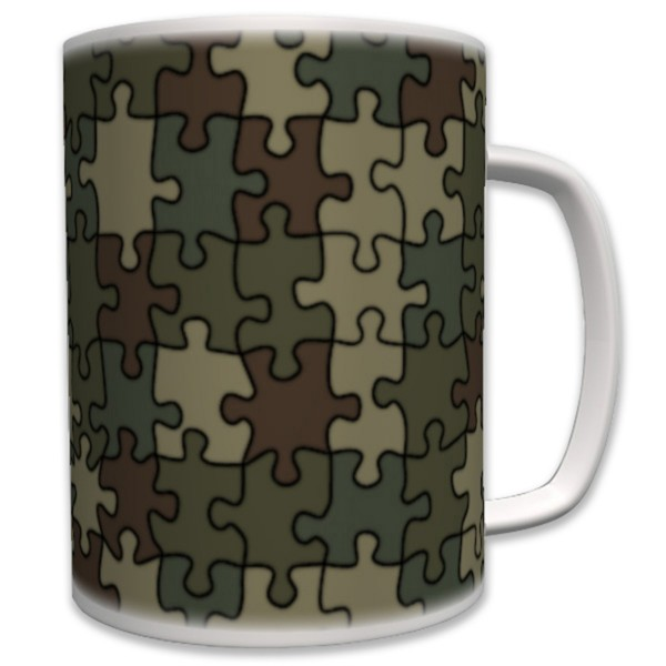 Puzzel Camouflage Tarnmuster Flecktarn- Tasse Becher Kaffee #6085