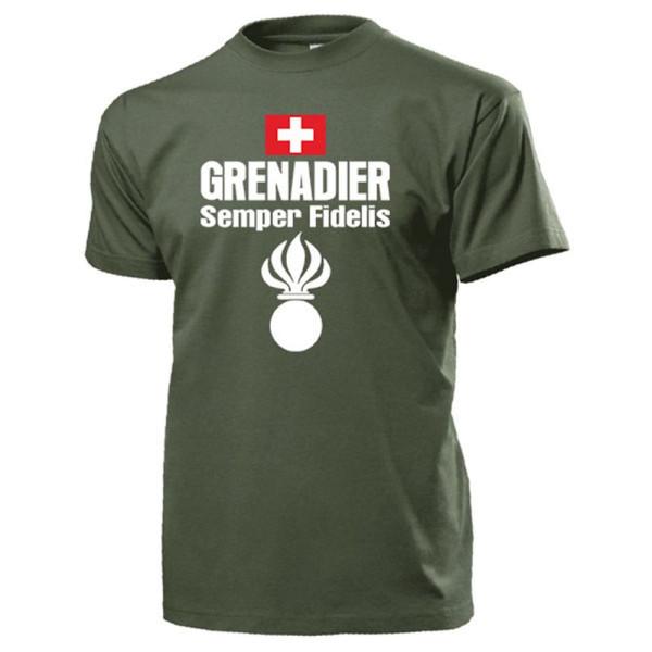 Grenadier Semper Fidelis Pannzergrenadier Armee Schweiz - T Shirt #13701