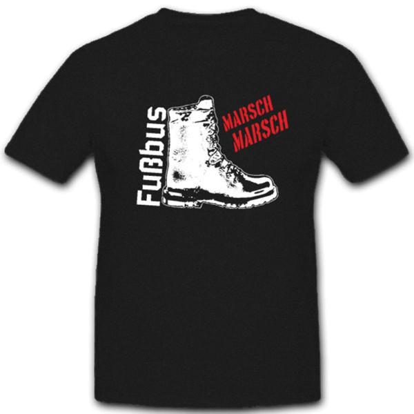 Fußbus Bundeswehr Sprüche Humor Spaß Fun Befehle Marschieren - T Shirt #4591