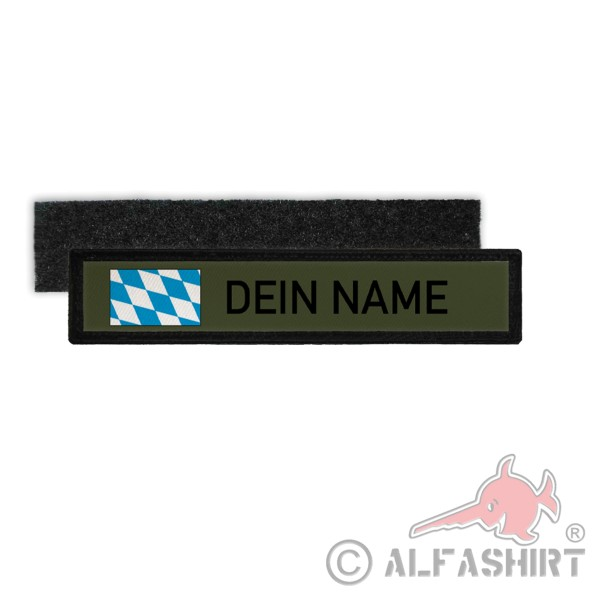 Name tag Bavaria Oliv Your name Germany Free State of Munich Wiesn # 36145