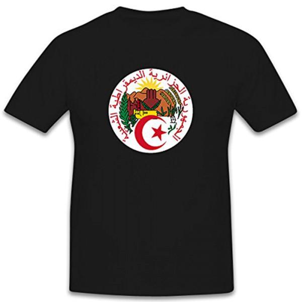 Algärien seal coat of arms country DMG al-Dschaz? Algiers - T-shirt # 12343