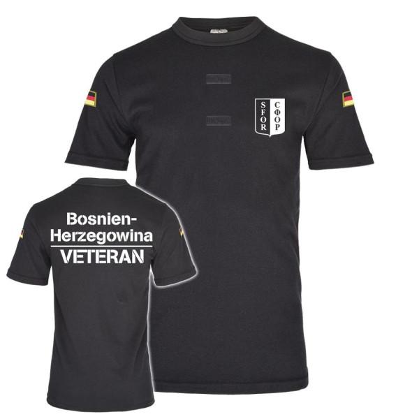 schwarz BW Tropen SFOR Veteran Bosnien Herzegowina T-Shirt #25946