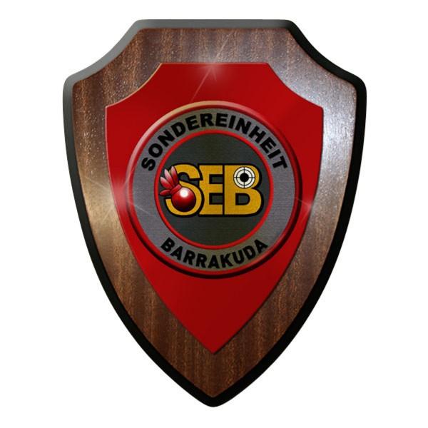 Wappenschild / Wandschild / Wappen - SEB Sonder Einheit Barrakuda #11909
