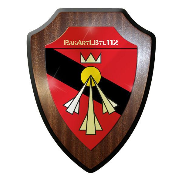 Wappenschild / Wandschild - RakArtLBtl 112 Raketen Artillerie Bataillon - #11725