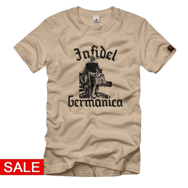 Gr. L - SALE Shirt Infidel Germancia Kreuzritter Deutschland Schwert #R495
