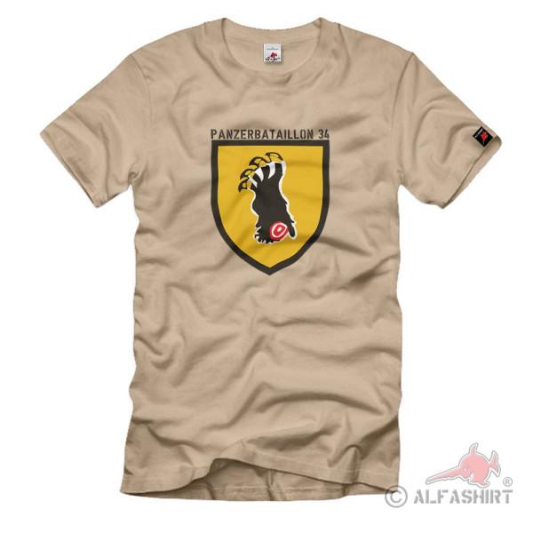 Panzerbataillon 34 PzBtl Panzertruppe Heer Bundeswehr BW - T Shirt #1272