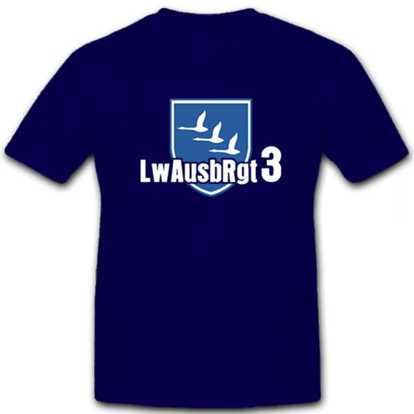 LwAusbRgt 3 Luftwaffenausbildungsregiment Bundeswehr Wappen - T Shirt #12754