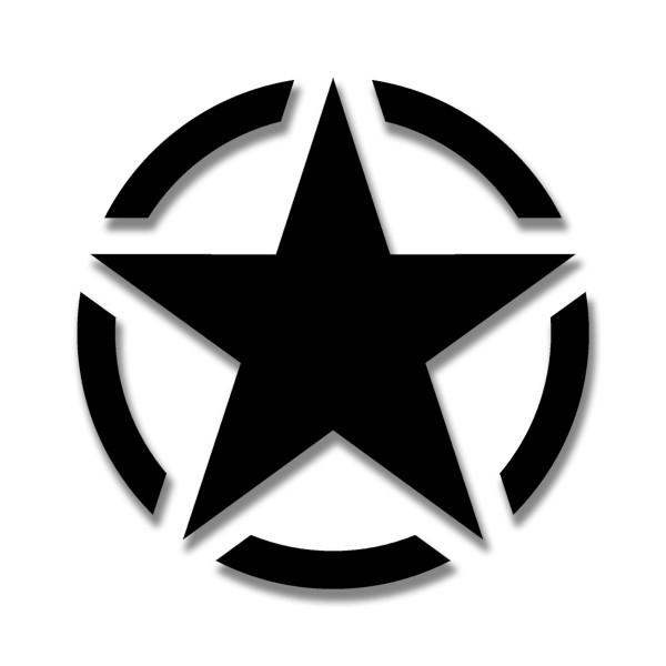 Army Stern schwarz Militär Aufkleber Stern Amerika KFZ Willys 15x15cm #A4592