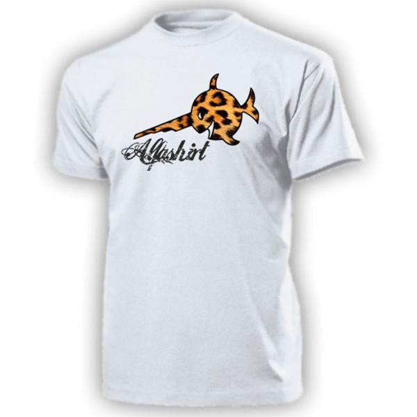 Alfashirt Leopardenfisch Sägefisch Schwertfisch Leo Leopard - T Shirt #13087