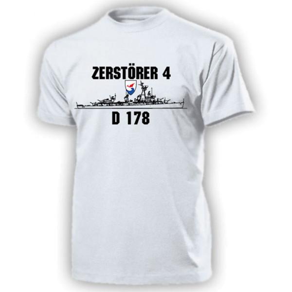 Zerstörer 4 D178 Bundesmarine Fletcher Z4 Marine Bundeswehr - T Shirt #13097