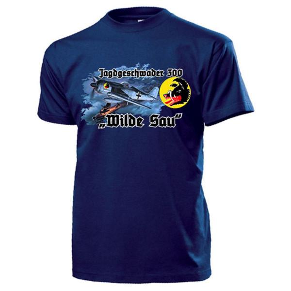 Jagdgeschwader 300 WILDE SAU Deutsche Luftwaffe FW190 Tagjäger - T Shirt #13298