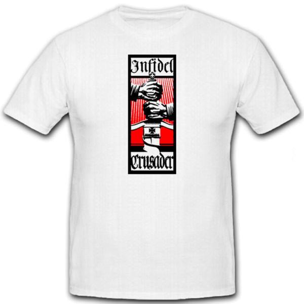 Infidel Crusader Sword- T Shirt #6545