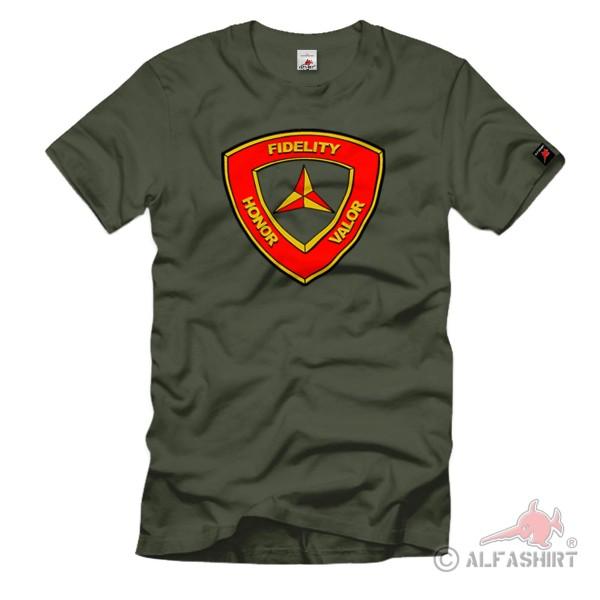 3rd Marine Division United States Marine Corps USMC USA - T Shirt # 1165