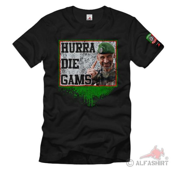 Thomas Gast Hurra die Gams Abenteuer Survival Bushcraft T-Shirt#36582