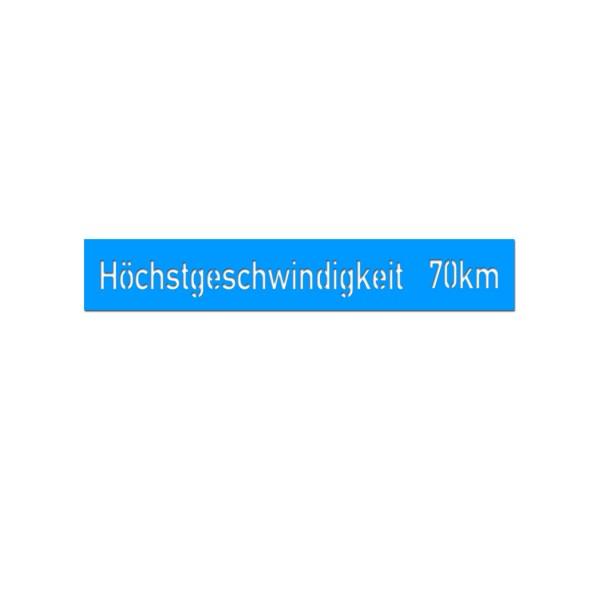 Lackierschablone Geschwindigkeit 70km Kübelwagen Typ 82 Kdf 1 31,5 x 3cm A5547